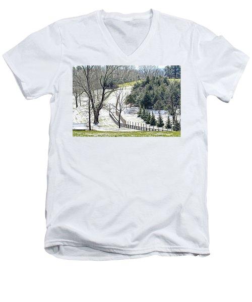 Early Winter Pasture Men's V-Neck T-Shirt