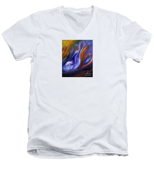 Earth, Wind And Fire Men's V-Neck T-Shirt by Valerie Travers