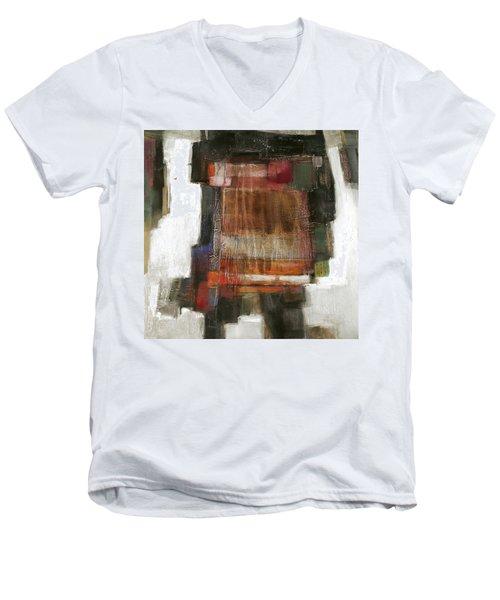 Orange Home Men's V-Neck T-Shirt by Behzad Sohrabi