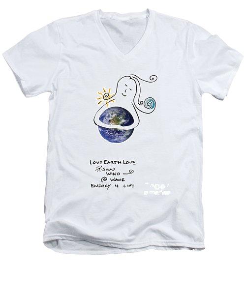 Earthhugger Men's V-Neck T-Shirt