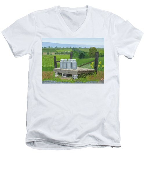 East Back Mountain Road Men's V-Neck T-Shirt