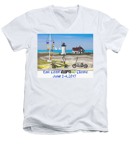 East Coast Elliptigo Classic  Opus 3 Men's V-Neck T-Shirt