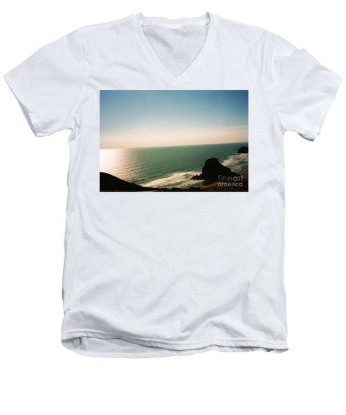East Coastline In New Zealand Men's V-Neck T-Shirt
