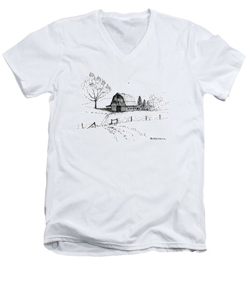 East Texas Hay Barn Men's V-Neck T-Shirt