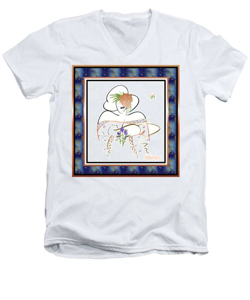 East Wind - Temple Cat Men's V-Neck T-Shirt
