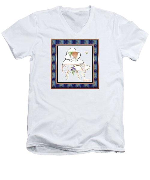 East Wind - Temple Cat Men's V-Neck T-Shirt