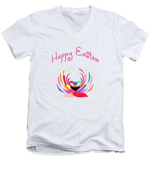 Easter Basket Men's V-Neck T-Shirt