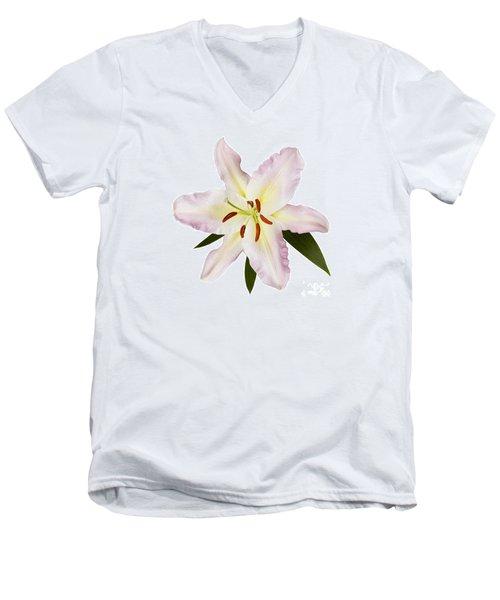 Easter Lilly 1 Men's V-Neck T-Shirt by Tony Cordoza