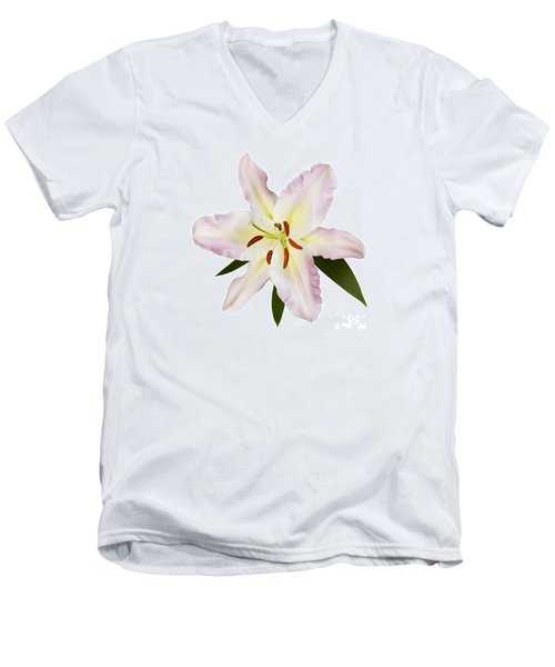Easter Lilly 1 Men's V-Neck T-Shirt