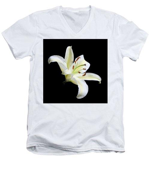 Easter Lily 1 Men's V-Neck T-Shirt