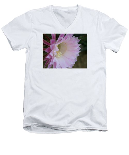 Easter Lily Cactus East 2 Men's V-Neck T-Shirt by Marna Edwards Flavell