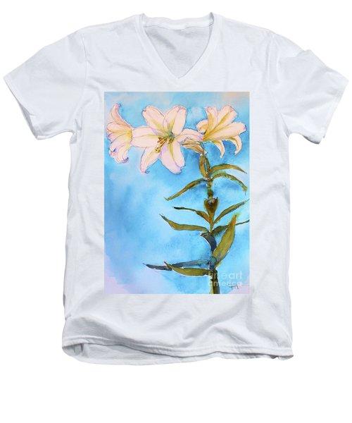 Easter Lily Men's V-Neck T-Shirt