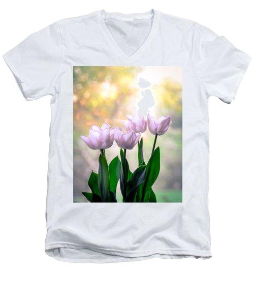 Easter Tulips Men's V-Neck T-Shirt by Ronda Broatch