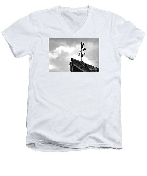 Men's V-Neck T-Shirt featuring the photograph Easterly Wind  by Juls Adams