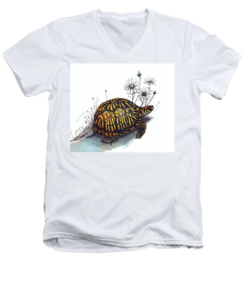 Eastern Box Turtle Men's V-Neck T-Shirt