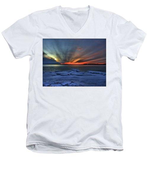 Eastern Lights  Men's V-Neck T-Shirt