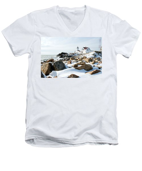 Eastern Point Light II Men's V-Neck T-Shirt