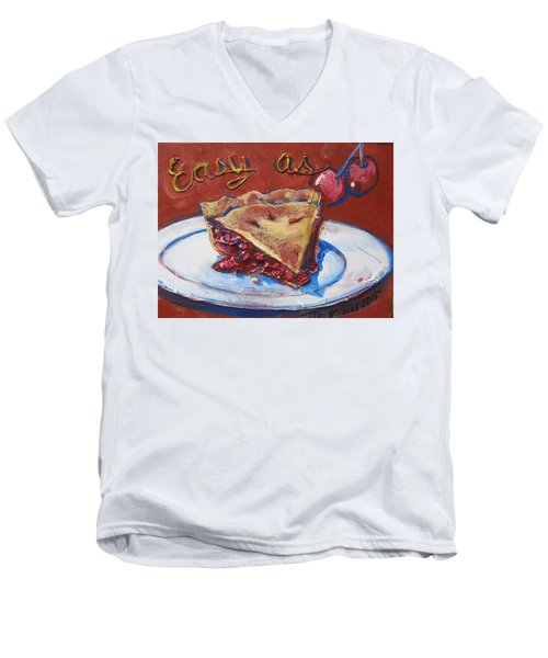 Easy As Pie Men's V-Neck T-Shirt by Tilly Strauss