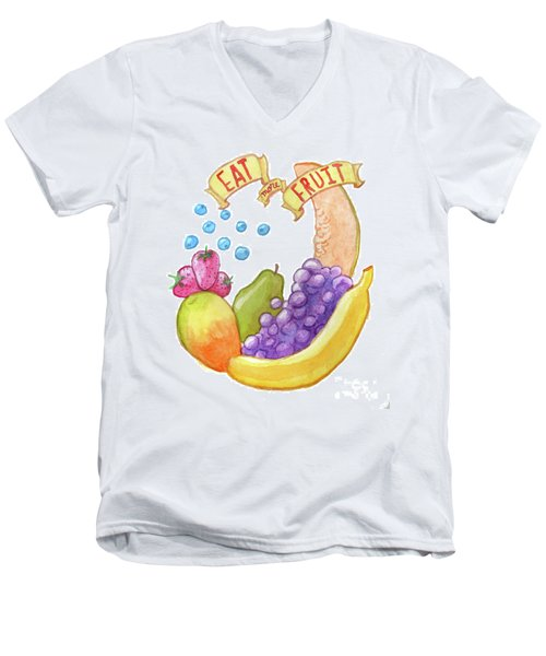 Eat More Fruit Men's V-Neck T-Shirt
