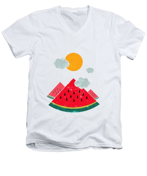 Eatventure Time Men's V-Neck T-Shirt by Mustafa Akgul