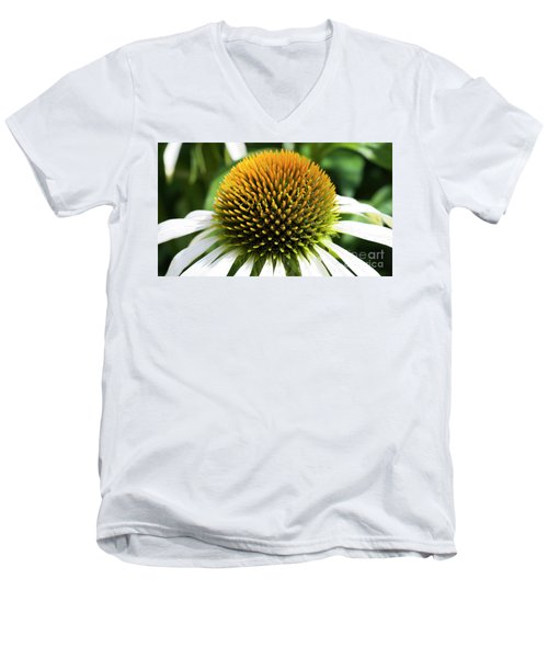 Men's V-Neck T-Shirt featuring the photograph Echinacea - Head And Shoulders by Wendy Wilton