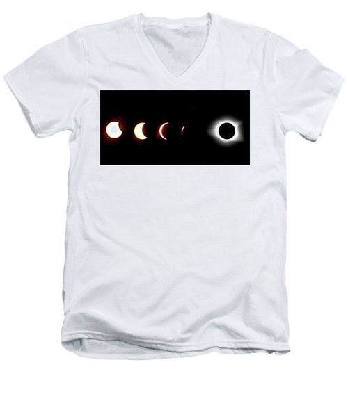 Eclipse To Totality Men's V-Neck T-Shirt
