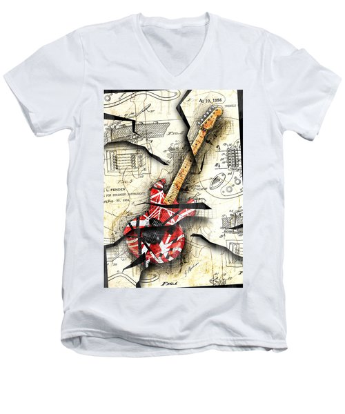 Eddie's Guitar Men's V-Neck T-Shirt