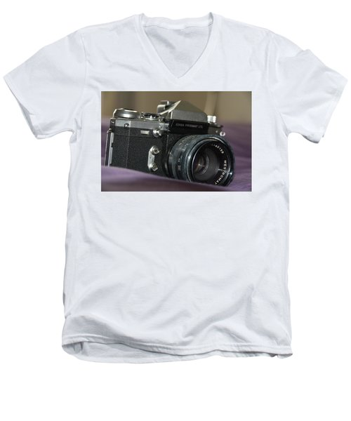 Men's V-Neck T-Shirt featuring the photograph Edixa Prismat L T L by John Schneider