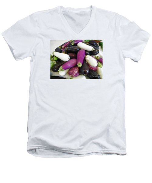 Eggplant Varieties Men's V-Neck T-Shirt by Dee Flouton