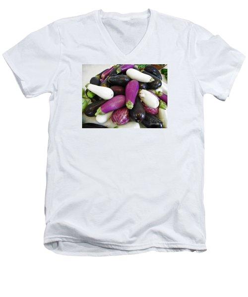 Eggplant Varieties Men's V-Neck T-Shirt