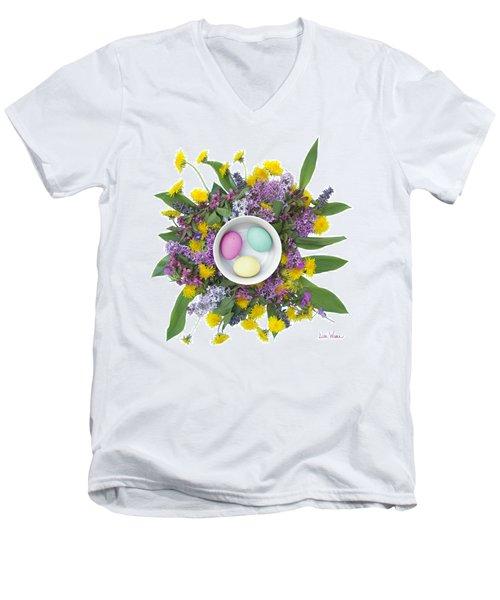 Eggs In A Bowl Men's V-Neck T-Shirt