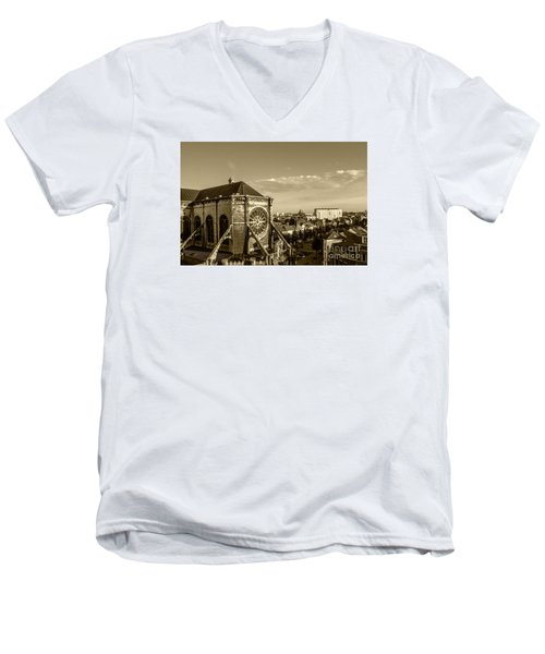 Men's V-Neck T-Shirt featuring the photograph Eglise De Saint Catherine by Pravine Chester