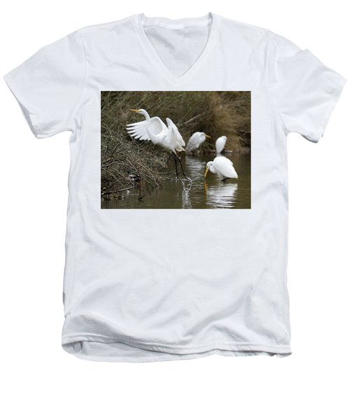 Egret Exit Men's V-Neck T-Shirt