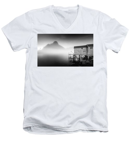 Egulfed By Mist Men's V-Neck T-Shirt by Alex Conu