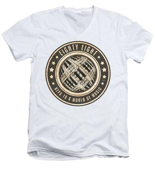 Eighty Eight Keys Men's V-Neck T-Shirt