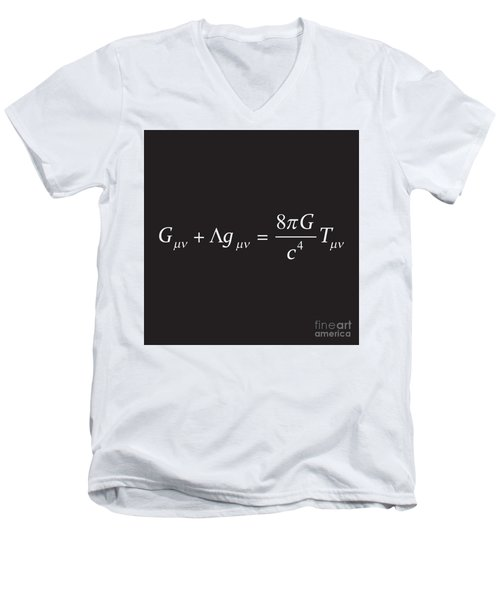 Einstein Field Equation Formula Men's V-Neck T-Shirt
