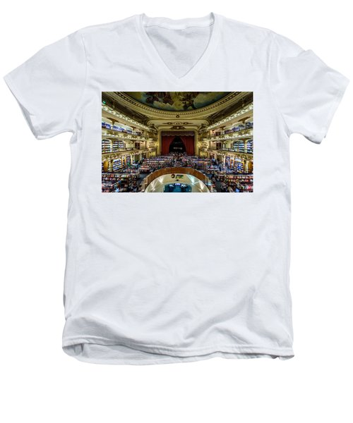 El Ateneo Grand Splendid Men's V-Neck T-Shirt