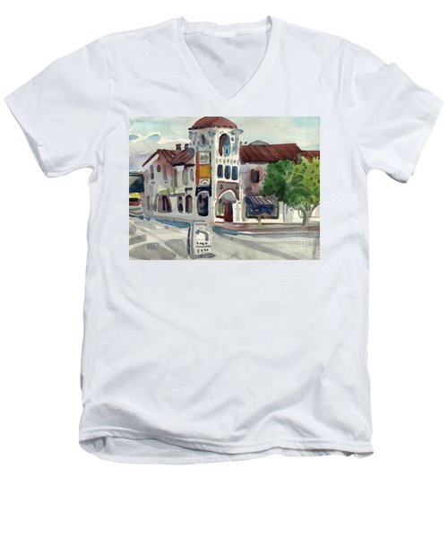 El Camino Real In San Carlos Men's V-Neck T-Shirt