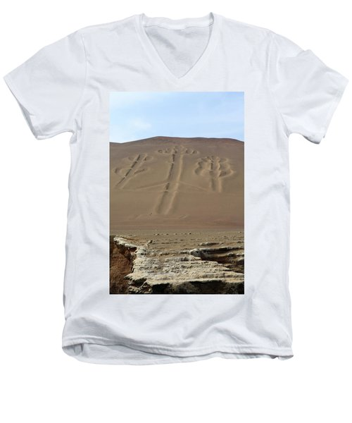 Men's V-Neck T-Shirt featuring the photograph El Candelabro by Aidan Moran