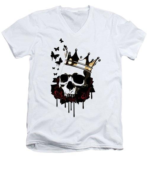 El Rey De La Muerte Men's V-Neck T-Shirt by Nicklas Gustafsson