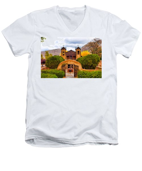 El Santuario De Chimayo Study 4 Men's V-Neck T-Shirt