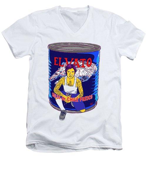El Vato 4 Men's V-Neck T-Shirt by Armando Padilla