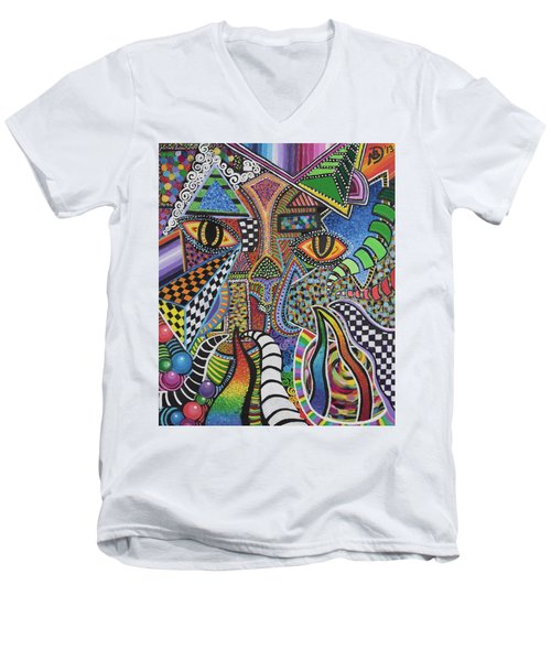 Electric Eyes Men's V-Neck T-Shirt