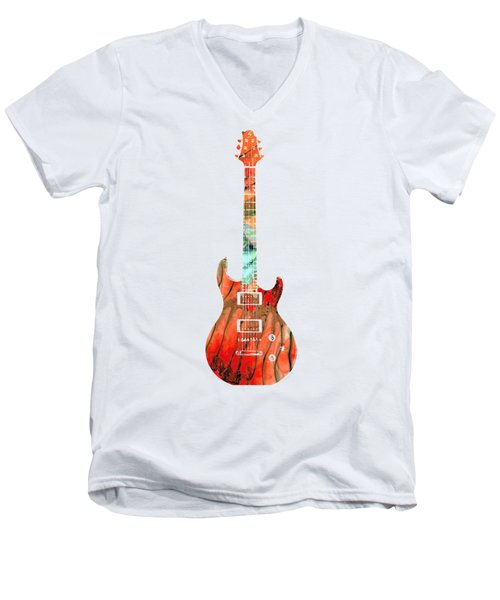 Electric Guitar 2 - Buy Colorful Abstract Musical Instrument Men's V-Neck T-Shirt