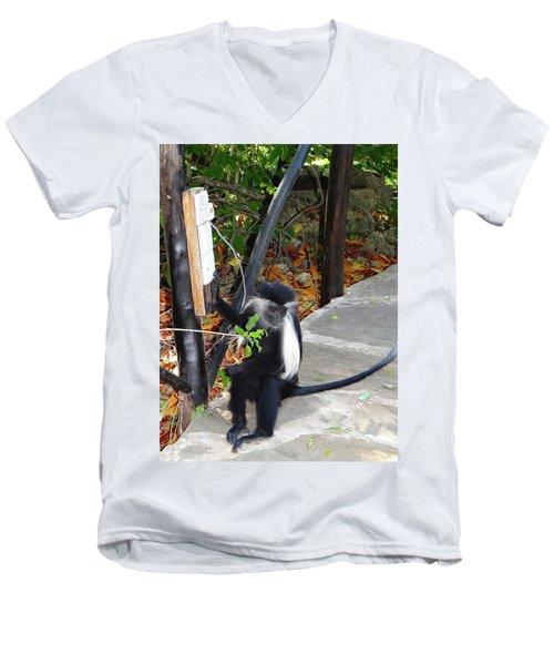 Electrical Work - Monkey Power Men's V-Neck T-Shirt