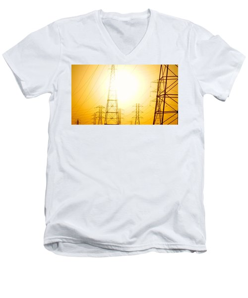 Electricity Towers Men's V-Neck T-Shirt