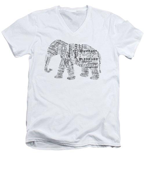 Elefont Noir Men's V-Neck T-Shirt