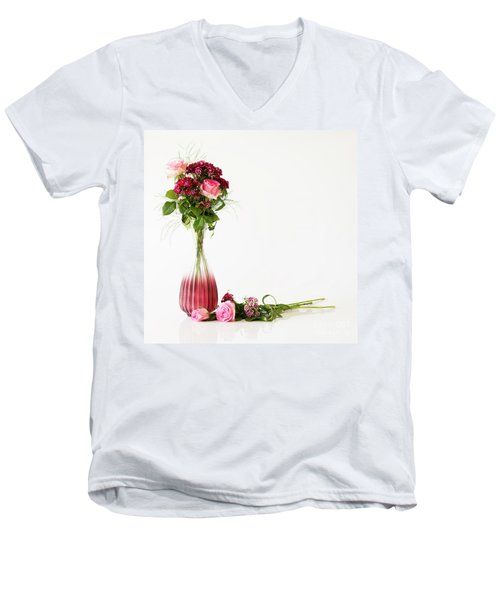 Men's V-Neck T-Shirt featuring the photograph Elegance by Wendy Wilton
