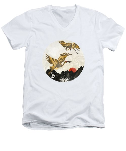 Elegant Flight II Men's V-Neck T-Shirt