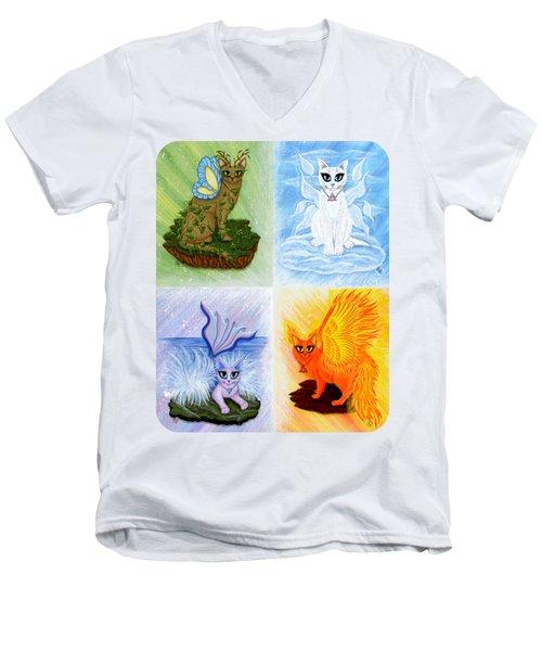 Elemental Cats Men's V-Neck T-Shirt